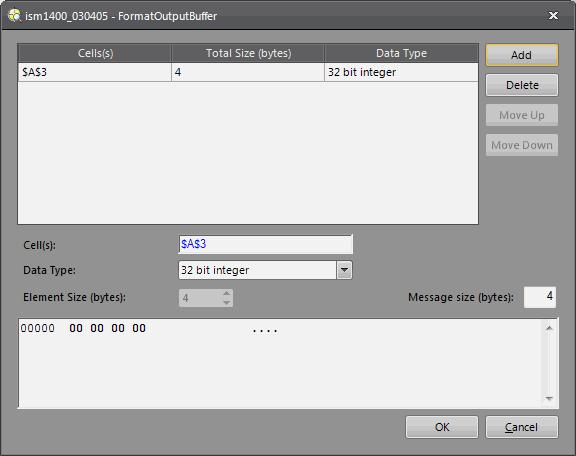 In-Sight® Explorer Help - Format Input/Output Buffer Dialogs