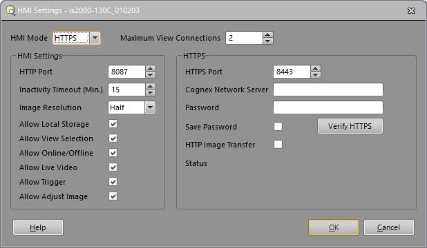 In-Sight® Explorer Help - HMI Settings Dialog